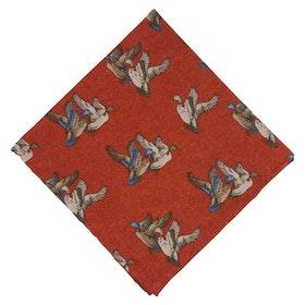 Orange Bröstnäsduk med ankor - bomull/ull