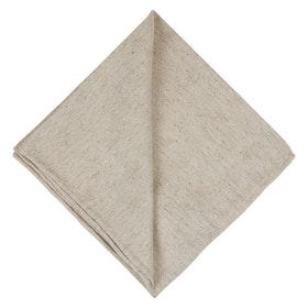 Sandfärgad Bröstnäsduk melerad - siden/bomull