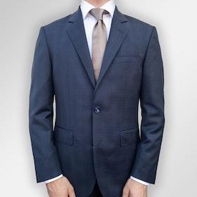 Kostym Viero Milano blå med rutor Super 120´S