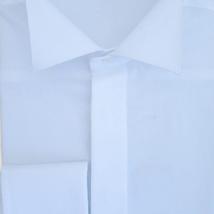 Smokingskjorta Wing-tip vit