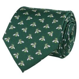 Slips grön med humlor silk/twill