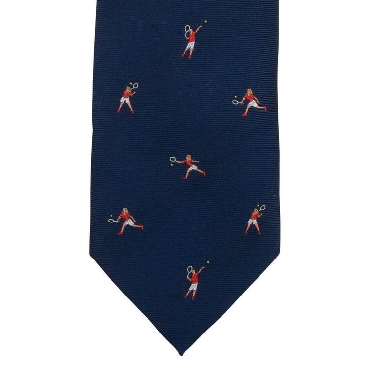 Slips blå tennis silke