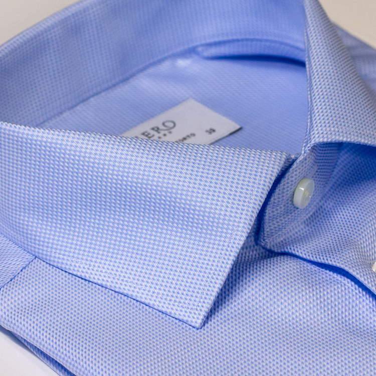 Ljusblå skjorta med lätt struktur, 2-ply