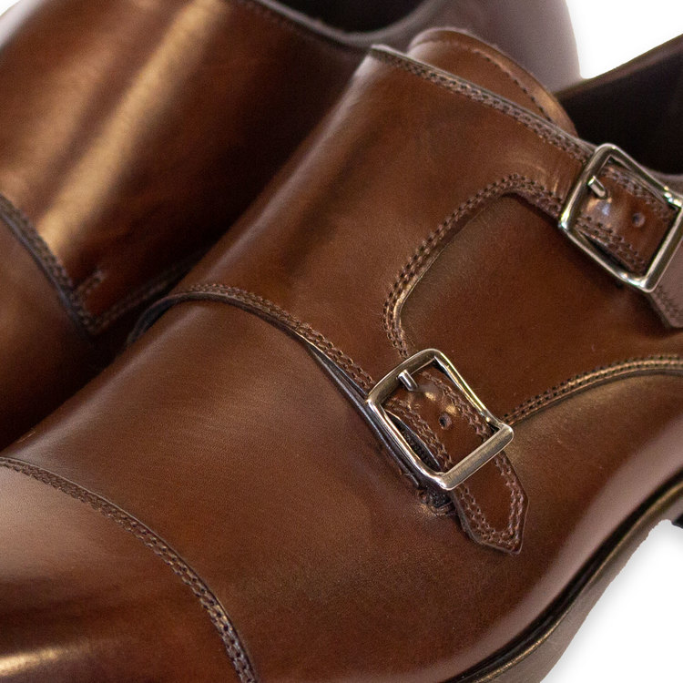 Mörkbrun sko i dubbel monkstrap