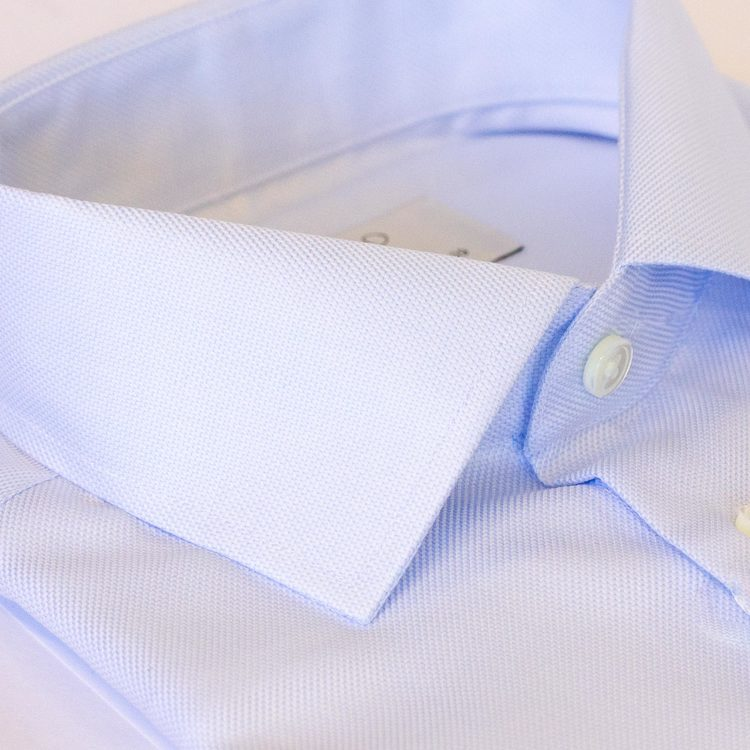 Ljusblå skjorta softblue, 2-ply