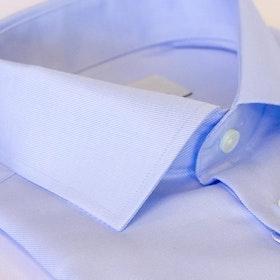 Ljusblå skjorta twill, 2-ply