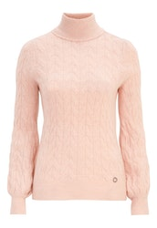 Kira Cable Knitted Sweater Light Pink / Melange