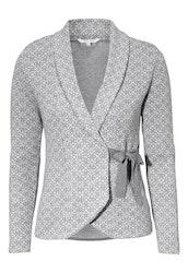 Mona Cardigan Grey Melange / Offwhite