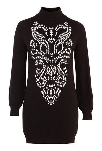Melanie Long Sweater Black / White