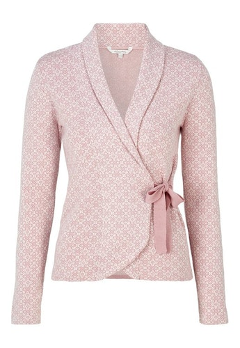 Mona Cardigan Light Pink / Offwhite