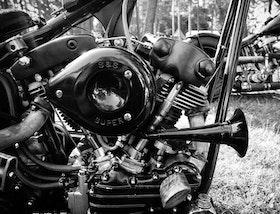 Heminredning Fotokonst  Harley Davidson.