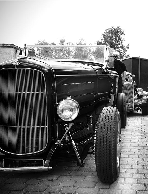 Heminrdning Svartvitt poster.Roadster.