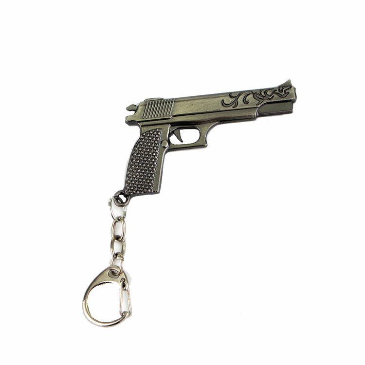 Keychain with pistols and revolvers - different variants