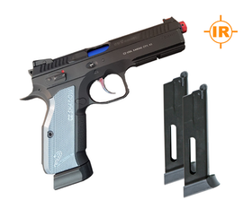 LaserAmmo - Recoil Enabled Training Pistol - CZ Shadow 2- RED laser with two Co2 magazines