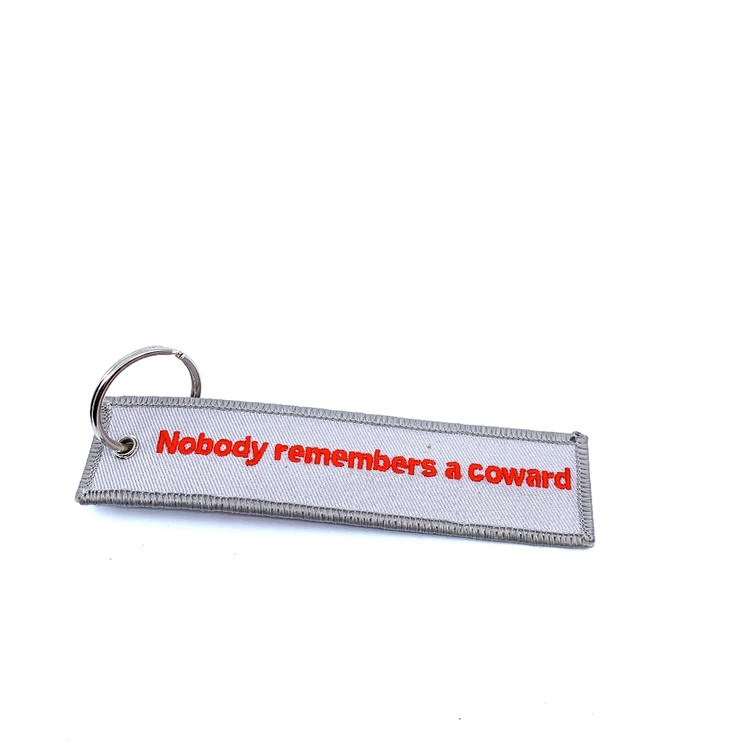 Keychain - Nobody remembers a coward
