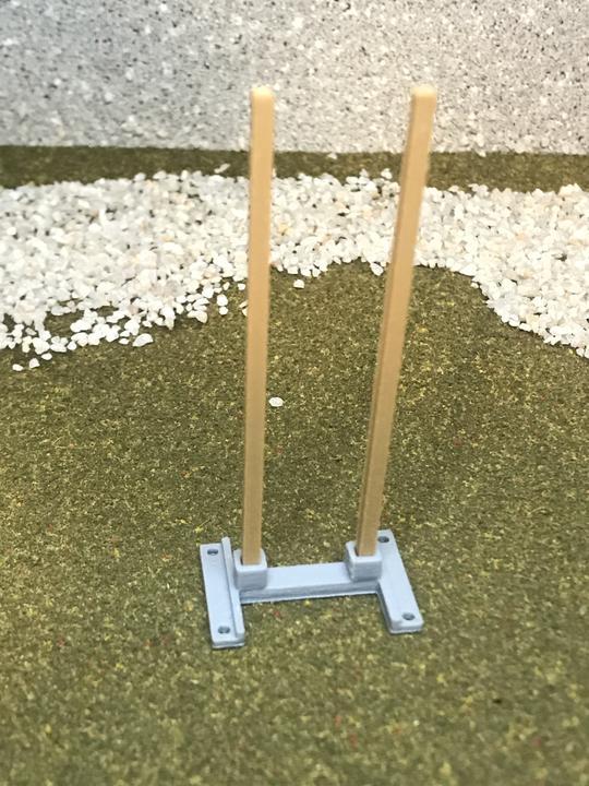 3D Stage Builder - 2 Target wooden legs