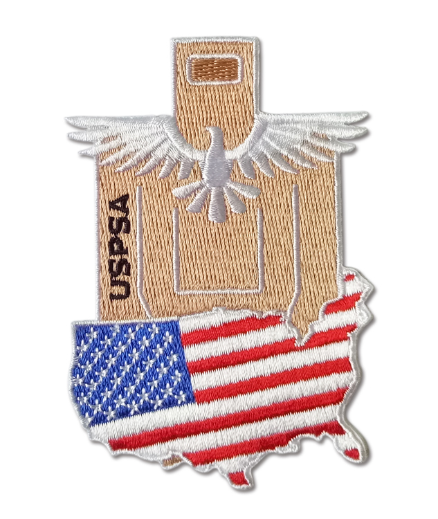 Rangemaster USPSA Target with USA Flag and eagle - Patch