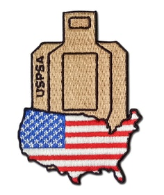 Rangemaster USPSA Target with USA flag - Patch