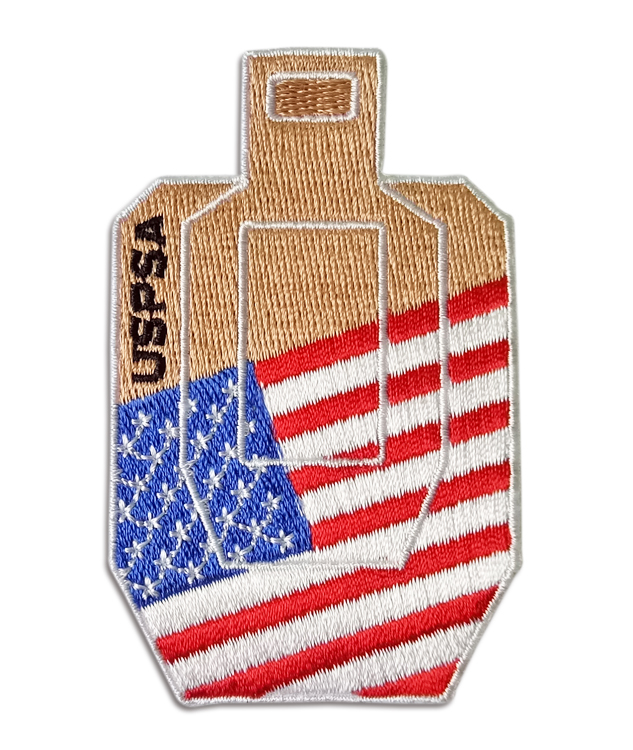 Rangemaster - USPSA target with USA flag patch