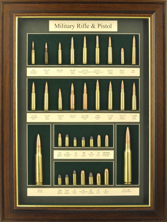 Wallmounted bullet display