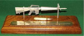 Miniature tin rifle