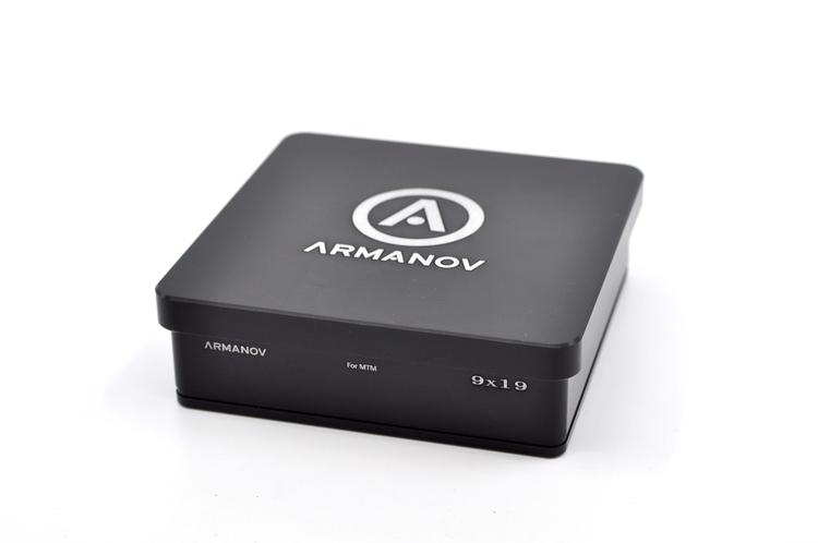 Armanov - Case Gauge box 100 rnd pockets with Flip Cover