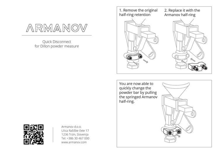 Armanov - Quick disconnect for Dillon powder measure