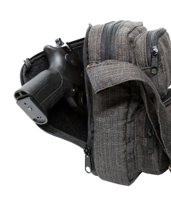 Falco - Elegant shoulder bag for concealed gun transport - (527)