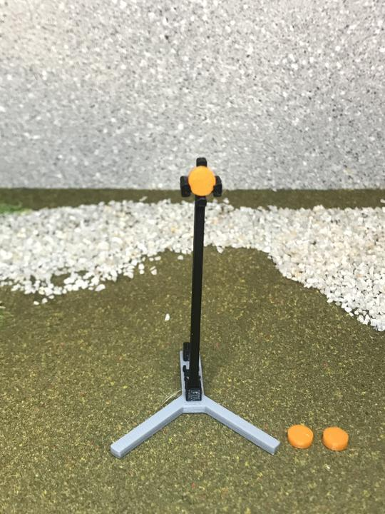 3D Stage Builder - Y stand with shotgun clay