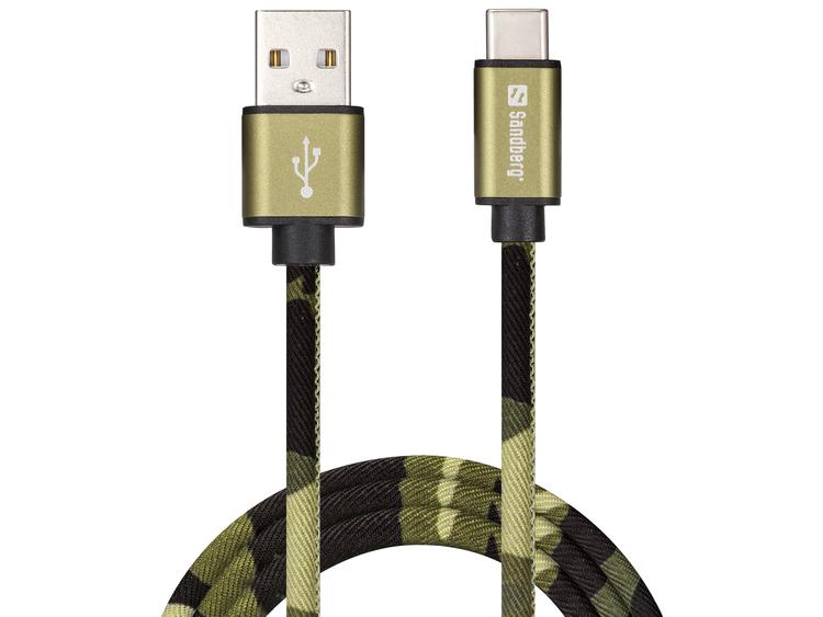 Sandberg - USB-C Green Camouflage 1m