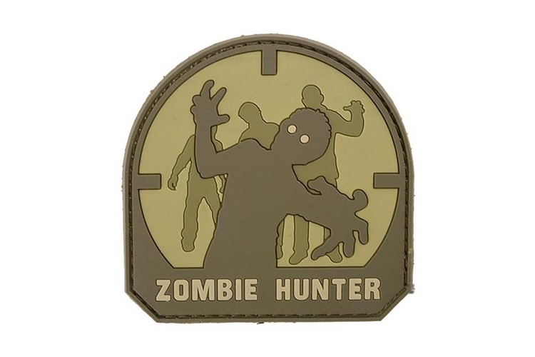 3D Zombie Hunter PVC Patch