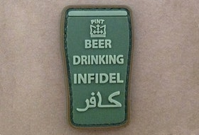 3D - Beer drinking infidel Patch
