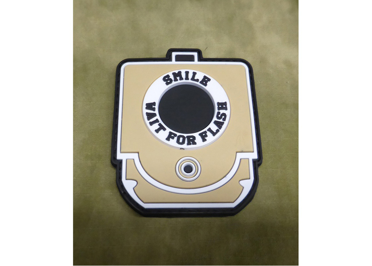 Smile and Wait Rubber Patch