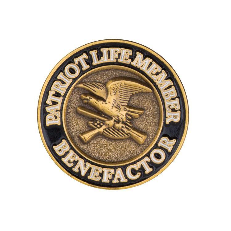 NRA Patriot member jumbo antiqued pins