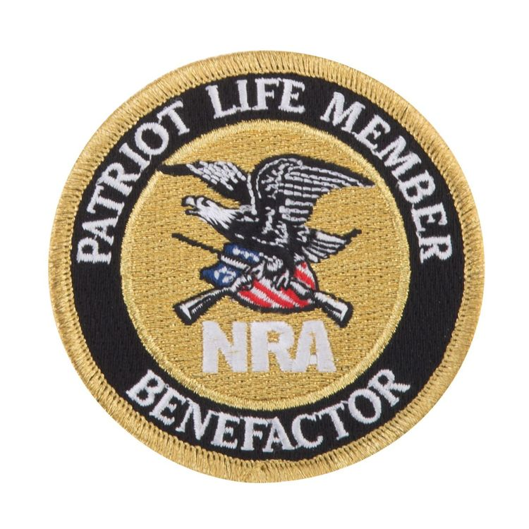 NRA Patriot life member patches