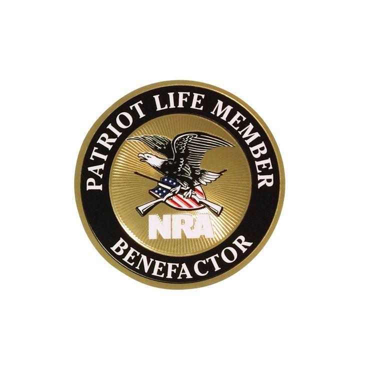 NRA Patriot life member decals