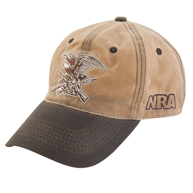 NRA Waxed cotton eagle hat