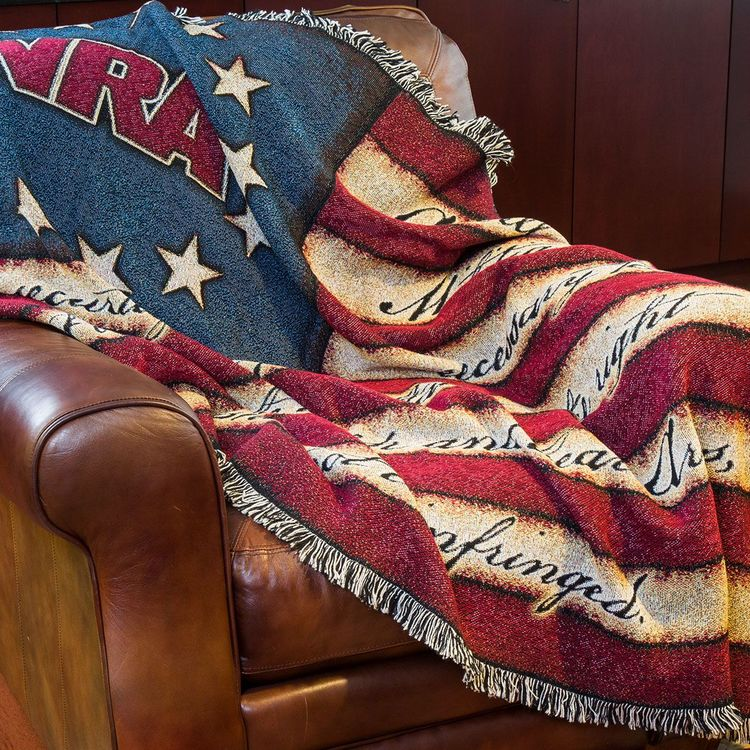 NRA Homestead classic throw blanket
