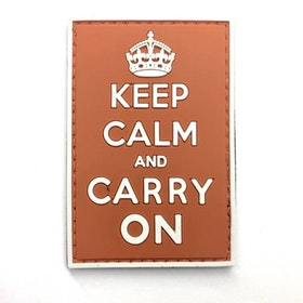 3D Rubber Keep Calm and Carry On Patch