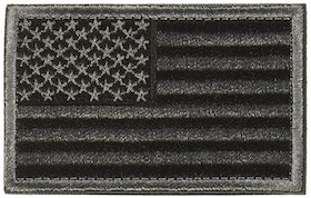 USA Black & Gray American Flag Patch