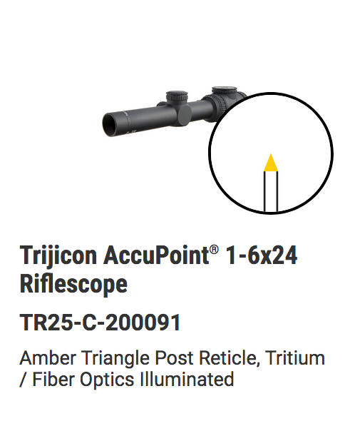 Trijicon - AccuPoint® 1-6x24 Riflescope