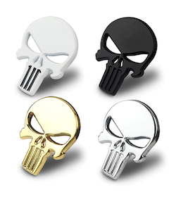 3D Metal Emblem - The Punisher Skull