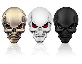 3D Metal Emblem - Skull
