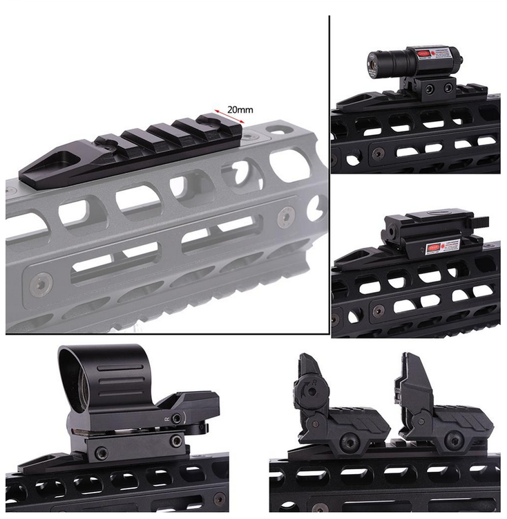 Replacement set for M-LOK rail sections