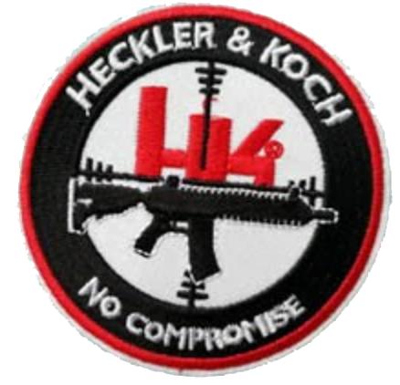 Heckler & Koch, No compromise - Patch