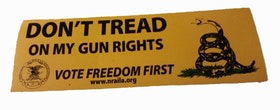 NRA - Dont tread on my gun rights - Sticker