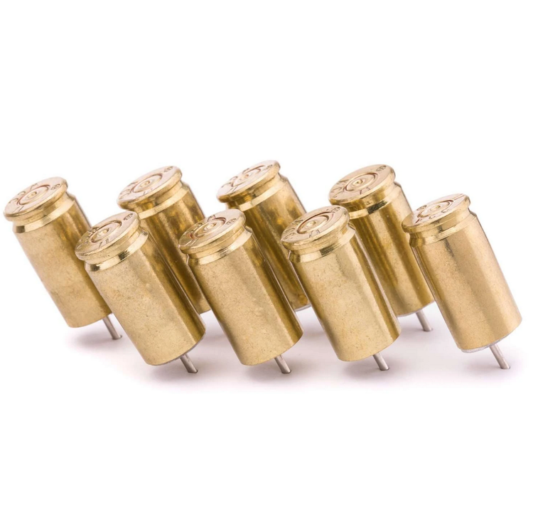 Lucky Shot - 9mm Bullet Push Pins (Pack of 8)