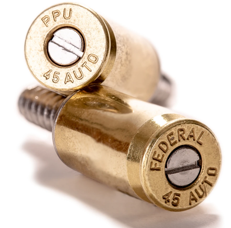 Lucky Shot - .45 Caliber Bullet License Plate Fasteners