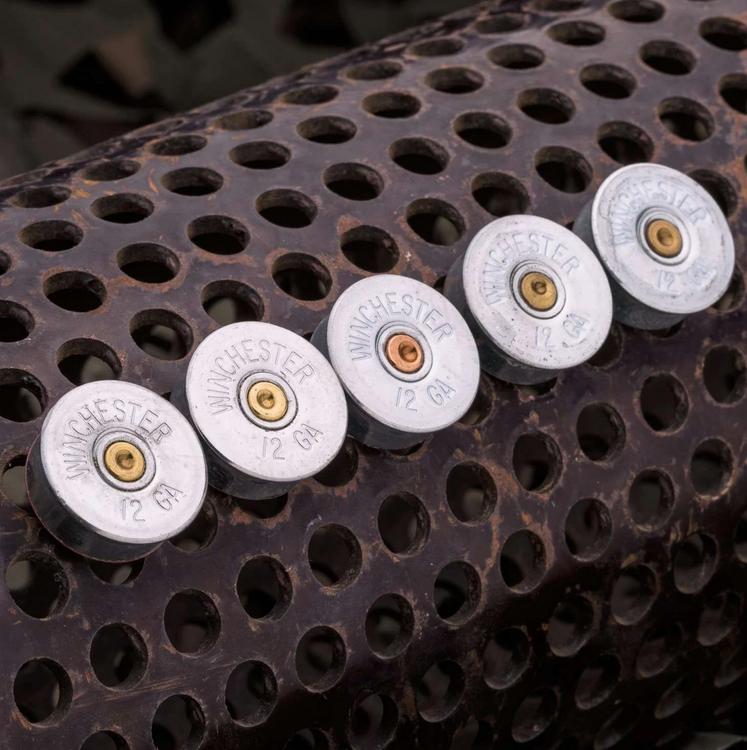 Lucky Shot - 12 Gauge Real Bullet Magnets - (5 per pack)