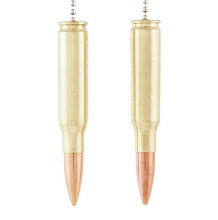 Lucky Shot - .308 Caliber Real Bullet car mirror hangers - Set of 2